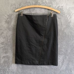 Banana Republic black asymmetrical zipper skirt